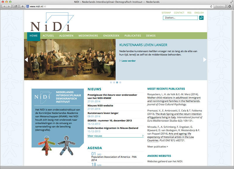 grafisch ontwerp website Nidi