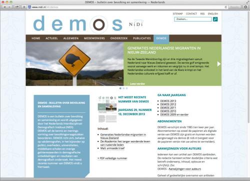 website ontwerp NiDi - Demos