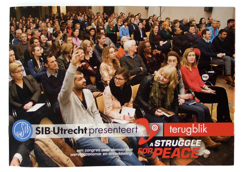 grafisch ontwerp brochure congres A struggle for peace