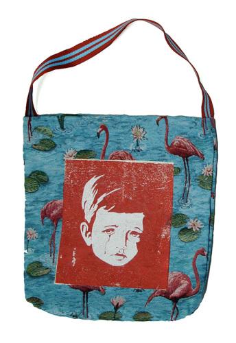 ontwerp, zeefdruk, handgemaakte tas