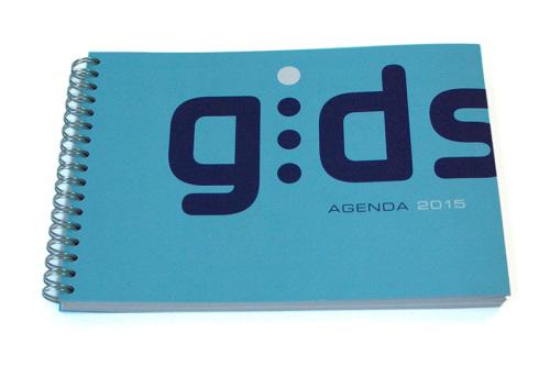 grafisch ontwerp agenda voor Gids in Utrecht