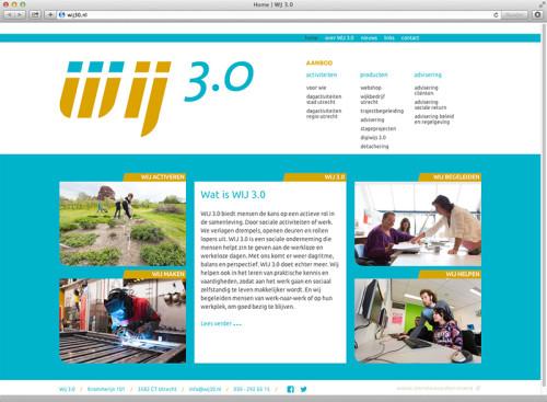 Ontwerp en technische realisatie website met WordPress voor Wij 3.0.