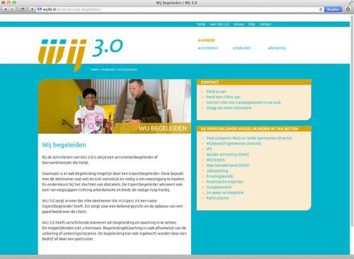 webdesign voor Wij 3.0 Utecht