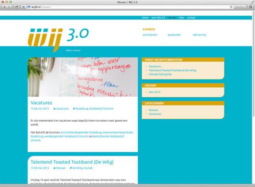 website ontwerp en uitvoering voor Wij 3.0 Utrecht