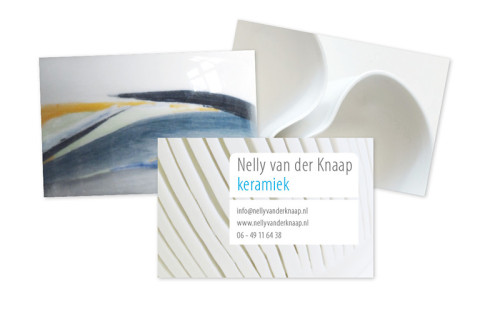 grafisch ontwerp voor visitekaartje Nelly van der Knaap