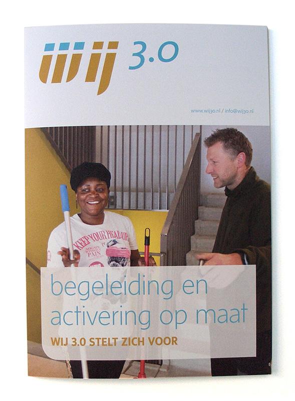 grafisch ontwerp voor algemene folder van Wij 3.0 uit Utrecht