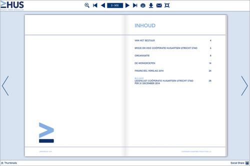 inhoudsopgave jaarverslag HUS