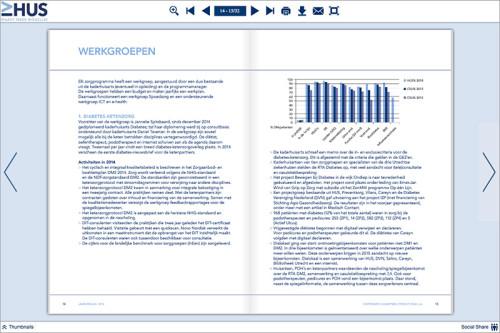 opmaak digitaal jaarverslag Huisartsen Utrecht Stad