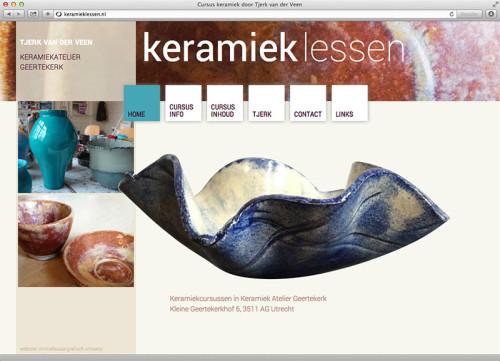 ontwerp en realisatie website keramieklessen.nl