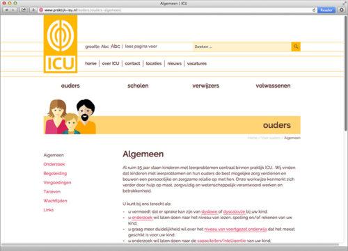 ontwerp en realisatie WordPress website voor ICU