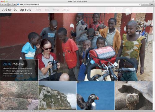 ontwerp WordPress website met reisverslagen