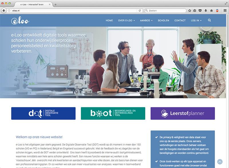 ontwerp website e-Loo