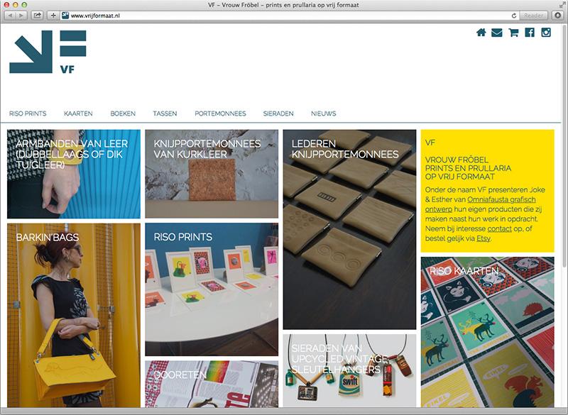 ontwerp website VrijFormaat.nl