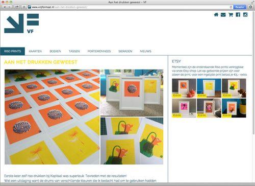 website voor VF - Vrij Formaat