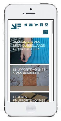 mobiele versie van de website vrijformaat.nl