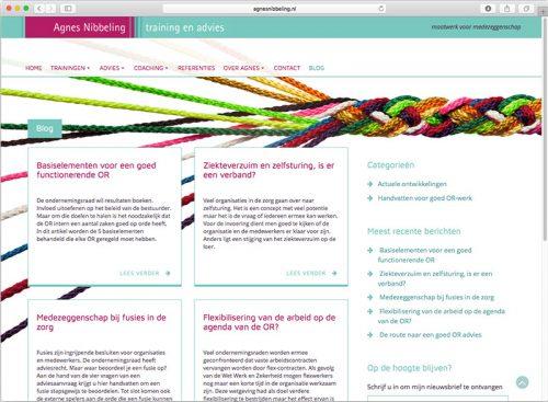 grafisch ontwerp en WordPress template voor site agnesnibbeling.nl