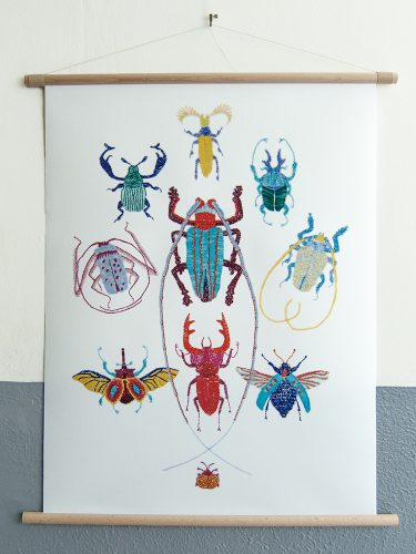 canvas poster Stitches - Bugs