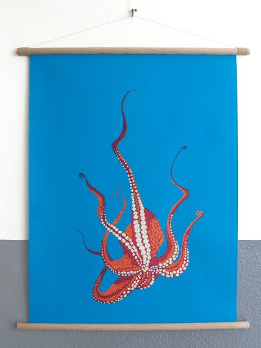 canvas poster Stitches - Octopus