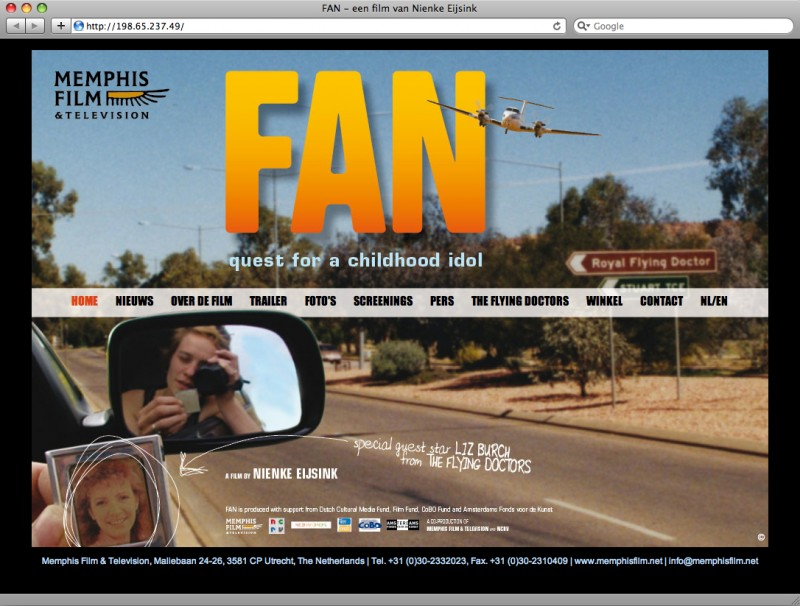 ontwerp en realisatie van een website over de documentaire Fan van Memphis film & television
