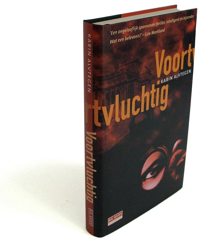 grafisch ontwerp boekomslag Voortvluchtig voor uitgeverij De Geus