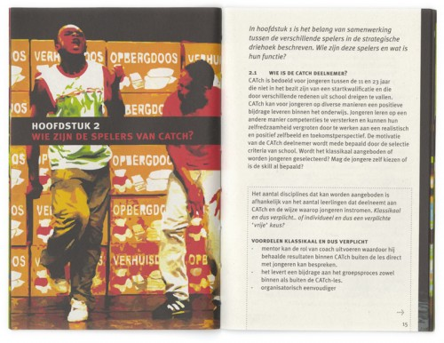 ontwerp brochure Catch in the pocket