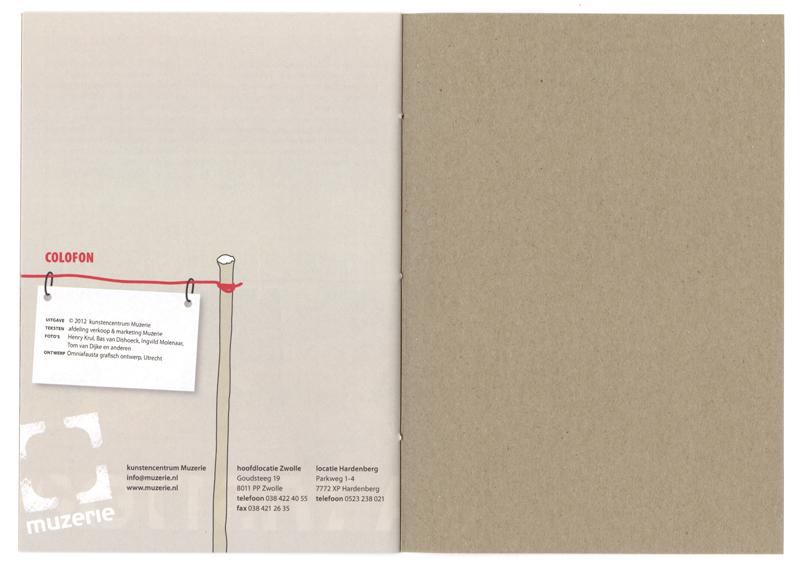 brochure / jaarverslag, colofon