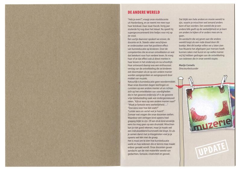 ontwerp en opmaak brochure / jaarverslag
