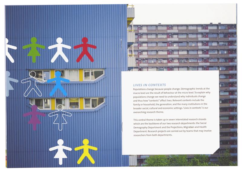 grafisch ontwerp van brochure voor het Nidi