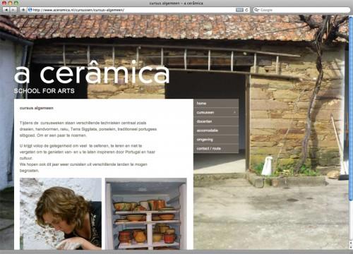 ontwerp en technische uitvoering website A Ceramica