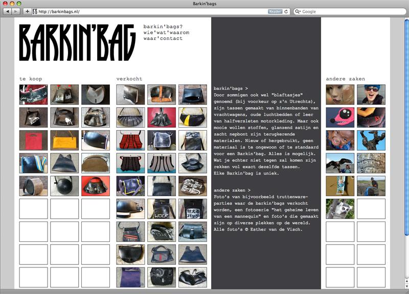 website ontwerp en uitvoering Barkin' bags