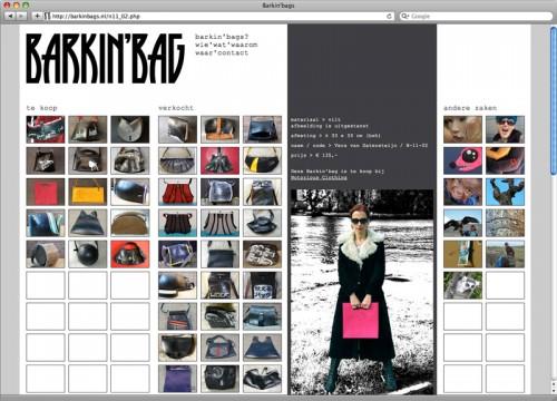 webdesign en realisatie Barkin'bags