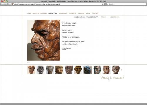 webdesign voor site Dennis Coenraad
