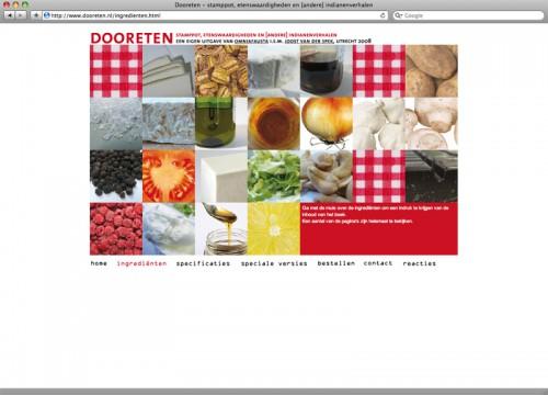 websie dooreten pagina ingrediënten