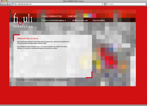 Ontwerp website figuli producties