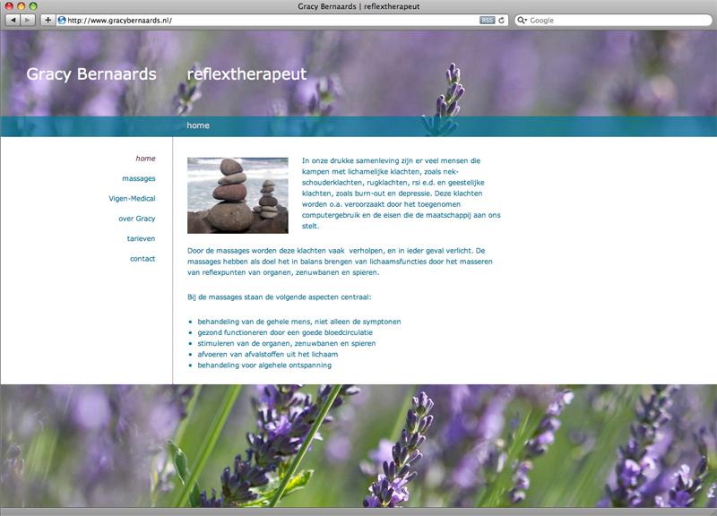 website ontwerp en uitvoering dmv Wordpress voor Gracy Bernaards