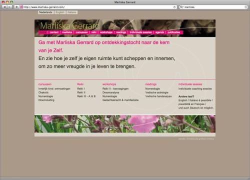 web design site Marliska Gerrard