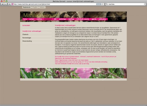 webstie ontwerp Marliska Gerrard