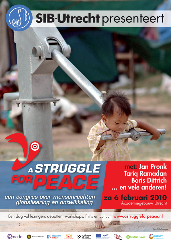 ontwerp posters congres a Struggle for Peace