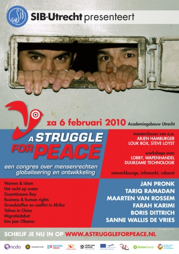 A2 affiche voor A Struggle for Peace