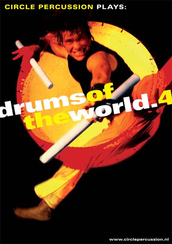 grafisch ontwerp affiche drums of the world 4 voor Circle percussion