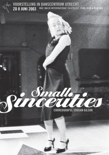 ontwerp poster dansvoorstelling Small Sincereties