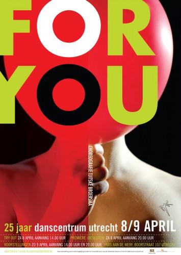 grafisch ontwerp affiche dansvoorstelling For You