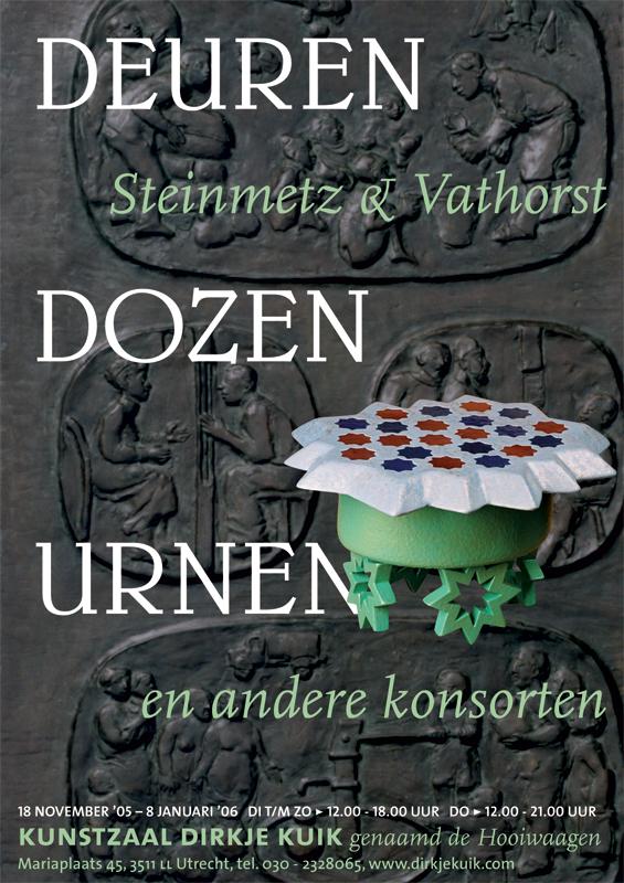 poster kunstzaal Dirkje Kuik - expositie Steinmetz en Vathorst