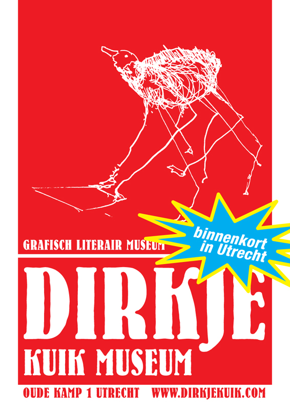 ontwerp affiche opening museum dirkje kuik