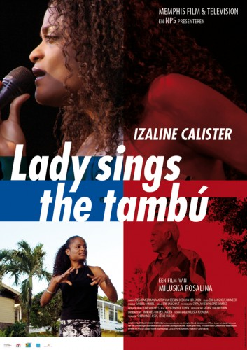 grafisch ontwerp affiche voor documentaire Lady sings the tambu