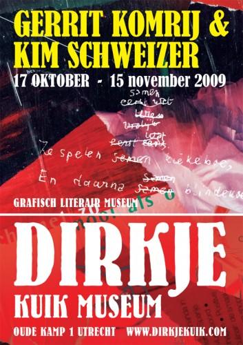 affiche expositie Gerrit Komrij en Kim Schweizer