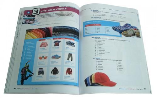 layout lesboek / werkboek Realtime Engels