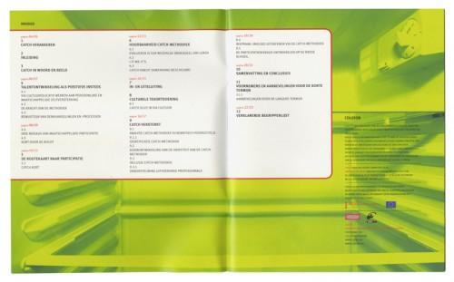 pamflet ontwerp voor catch jongeren