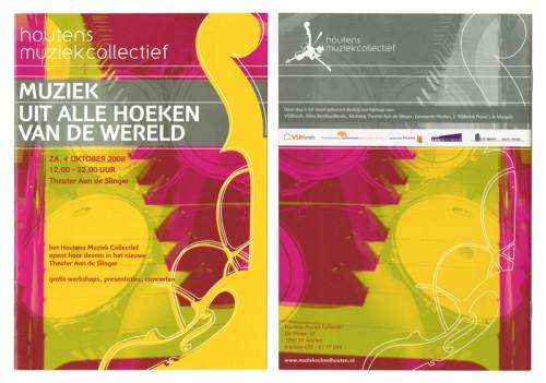 brochure voor houtens muziek collectief