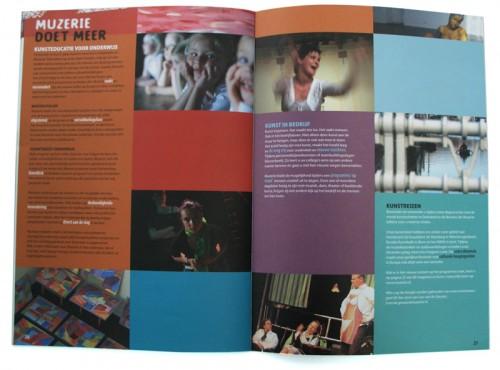 grafisch ontwerp brochure kunstencentrum Muzerie
